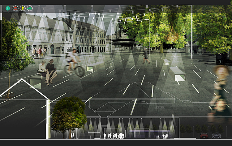 Lighting master plan: The night time face of Timisoara city <br srcset=
