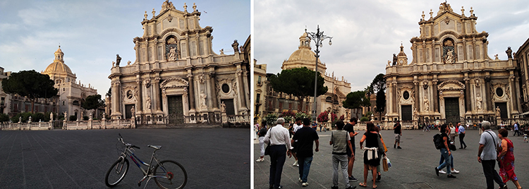 Through and beyond horror (space and time) vacui in Catania? <br srcset=