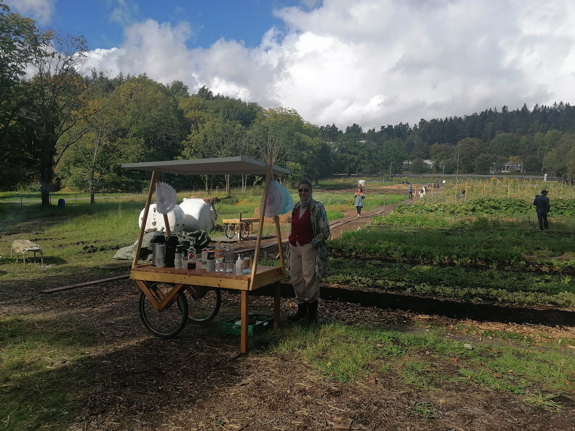 Image 4. Mobile wagon at Linderud farm. Source: Kimberly Weger.